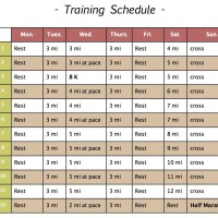 Wake Up & Run! The Half Marathon Training Program, Part II: The Schedule